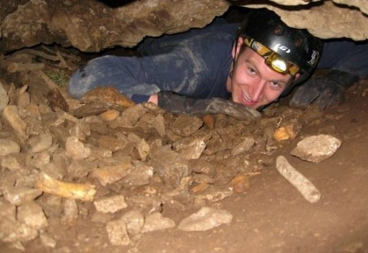 Nate in cave 2