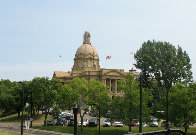 Alberta Legislature Building from the streetcar