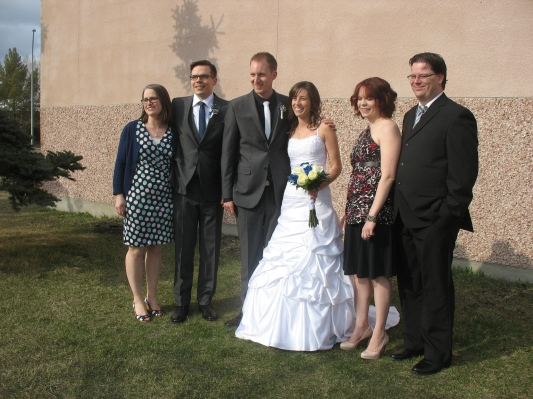 Our beautiful children: Matt and his wife Robin, Nate and his lovely bride Colleen, Melaina and her husband Aaron