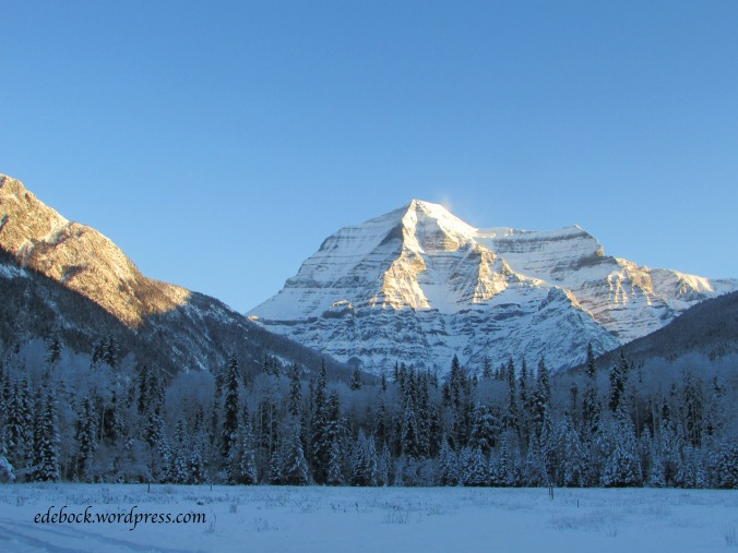 Mount Robson in early morning light