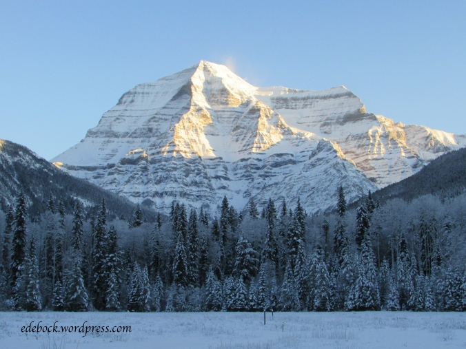 Mount Robson, highest peak in the Canadian Rockies
