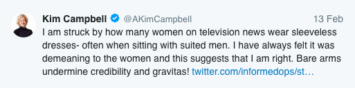 Kim Campbell Twitter post