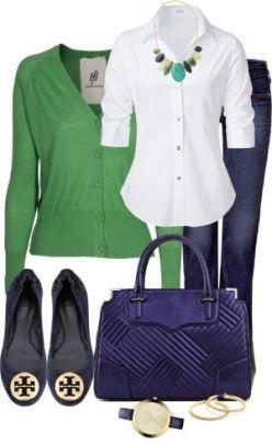 navy & emerald
