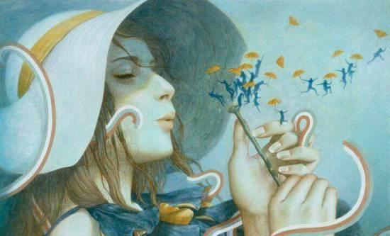 mujer-soplando-una-flor